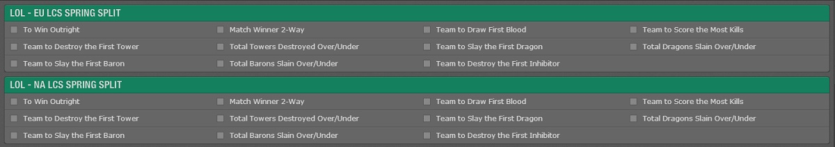 Bet365 lcs split betting