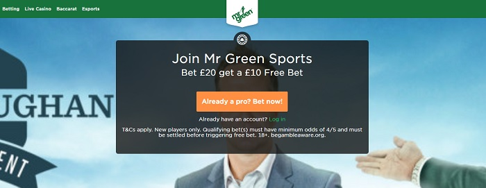 mr green esports bonus